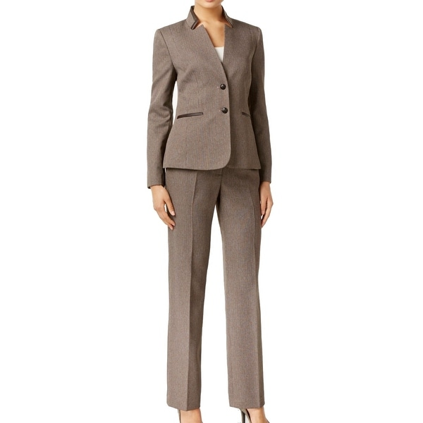 Tahari by ASL NEW Brown Women's Size 18 Notch Collar Pant Suit Set
