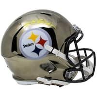 Antonio Brown Signed Steelers Full Size Chrome Speed Replica Helmet JSA