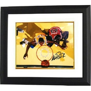 4a00807bc Shop Magic Johnson signed Los Angeles Lakers 8x10 Photo Custom Framed  yellow jersey from aboveblack sig - Free Shipping Today - Overstock -  19868692