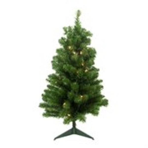 "2' x 13"" Pre-Lit Noble Pine Artificial Christmas Tree- Clear Lights"