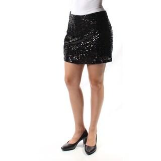 Womens Black Mini A-Line Party Skirt Size XS