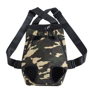 Pet Dog Carrier Front Chest Backpack Pet Cat Puppy Holder Bag Outdoor Travel (Camo – S)