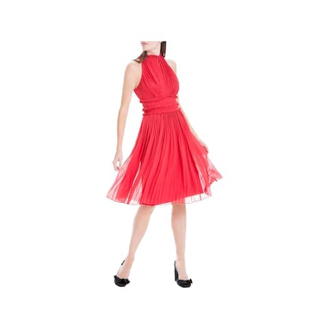 b1fa7df3cc Max Studio Womens Cocktail Dress Pleated A-Line