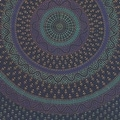 Handmade Sanganer Mandala Peacock 100% Cotton Tapestry Tablecloth Bedspread in Red Blue & Green colors in Twin & Full sizes - Thumbnail 9