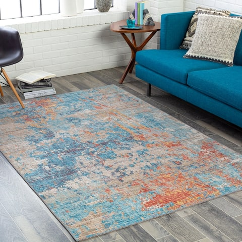 Lautner Modern Abstract Printed Area Rug