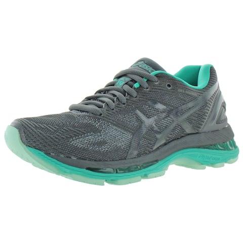Asics Womens Gel-Nimbus 19 Lite-Show Running Shoes Lightweight Cushioned - Dark Grey/Black/Reflective