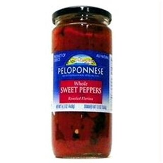 Peloponnese B46759 Peloponnese Roasted Florina Whole Peppers -6x13oz