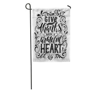 Overstock Gratitude Give Thanks Grateful Heart Inspirational Hand Lettering Home Garden Flag Decorative Flag House Banner 12x18 All Seasons From Overstock Com Daily Mail