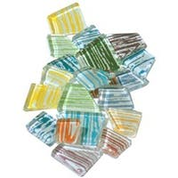 Assorted Brushstroke - Crafter's Cut Mosaic Tiles .5Lb