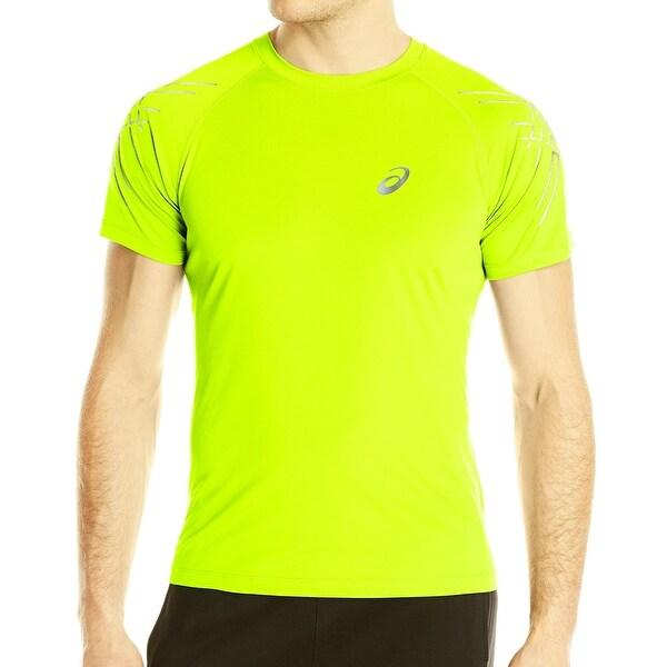 Shop Asics Yellow Mens Size XL Tiger-Stripe Performance Tee T-Shirt