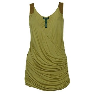 Ralph Lauren Women's Ruched Sleeveless Top - beiges - xL
