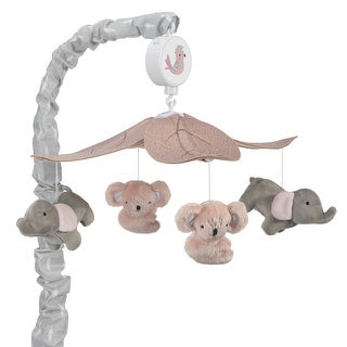 Lambs & Ivy Pink Calypso Musical Baby Crib Mobile