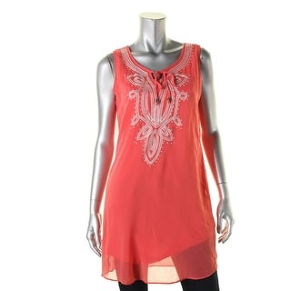 BCX Womens Juniors Blouse Sleeveless Tunic - Medium