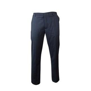 Kenneth Cole Men's Slant Pocket Flat Front Pants