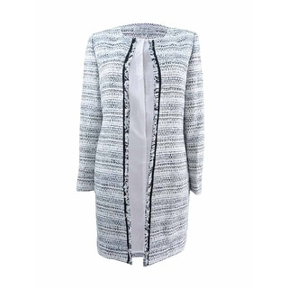 Link to Tahari ASL Women's Petite Boucle Fringe-Trim Jacket Similar Items in Suits & Suit Separates