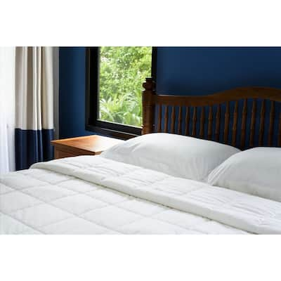 Ultra Soft Lightweight White Down Alternative Comforter Perfect For Any Season