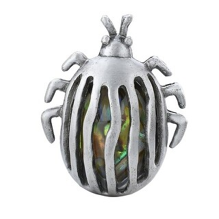 Silver Tone Beetle with Iridescent Gem