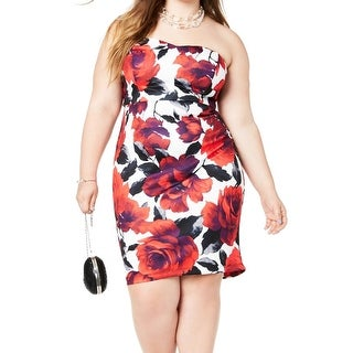 Link to B. Darlin Womens Sheath Dress Red White Size 22W Plus Floral-Print Similar Items in Dresses