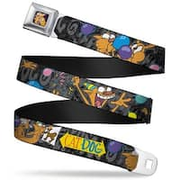 Dog & Cat Pose Full Color Catdog Party Balloons Catdog Logo Gray Black Seatbelt Belt