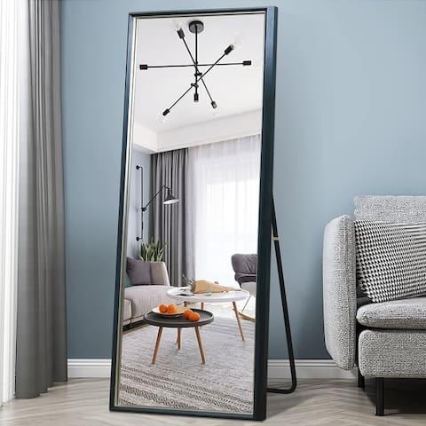 "Full Length 65""x22"" Standing Mirror Beveled Venetian Mirror"