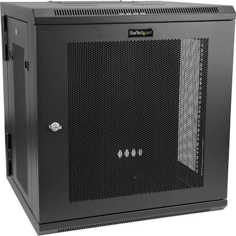 Startech.com rk12walhm use this wall mount network cabinet to mount your server or networking equipment - Black