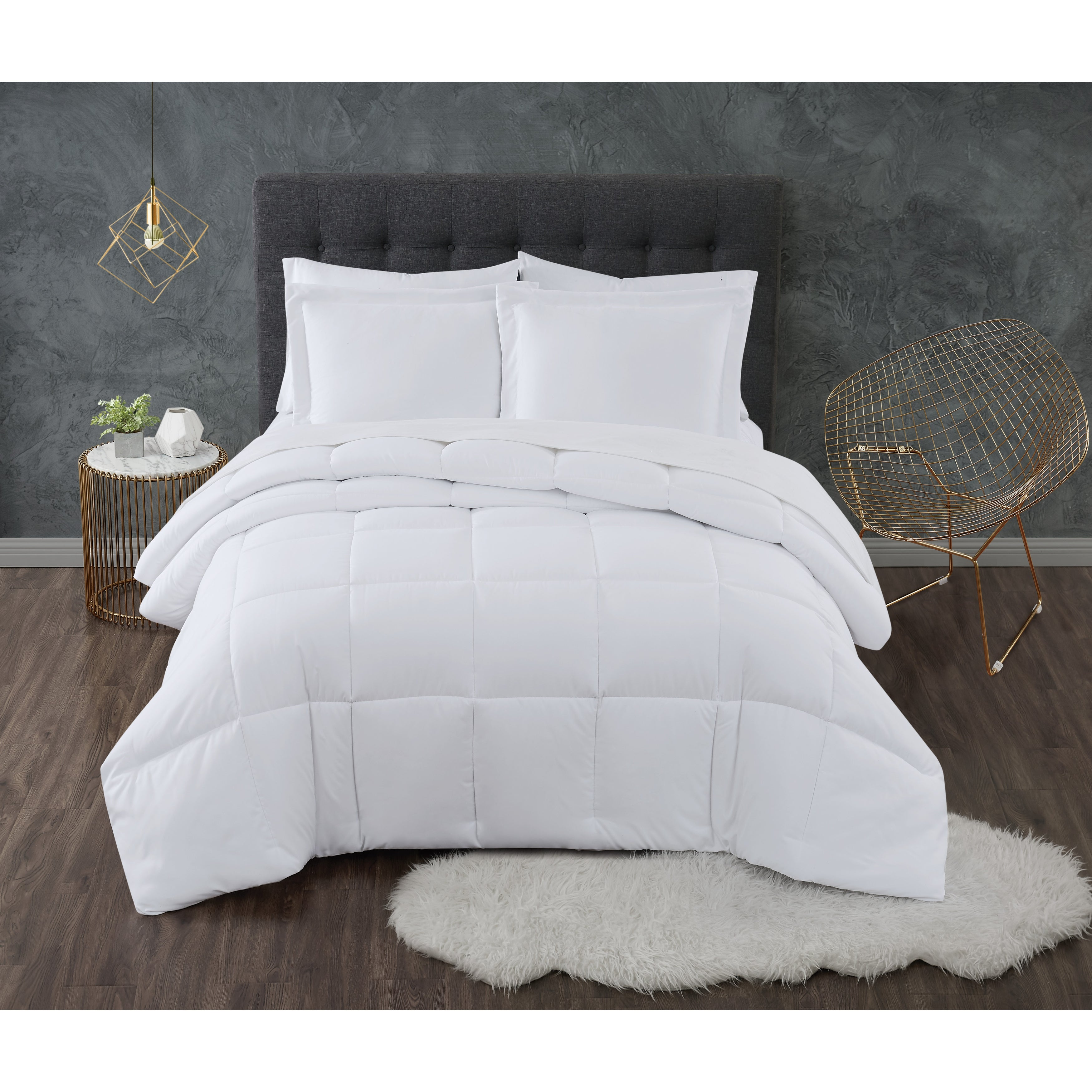 Truly Calm Antimicrobial 3 Piece Down Alternative Comforter Set Overstock 31730616