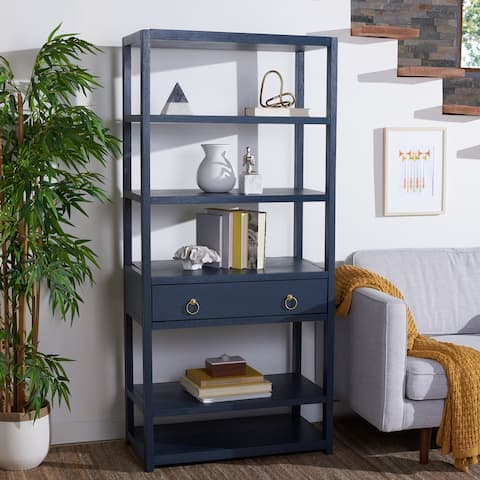 "Safavieh Johni 1-Drawer 5-Shelf Etagere Bookcase - 32"" W x 18"" L x 70"" H"