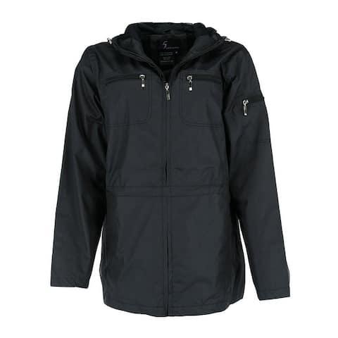 I5 Apparel Women's Hooded 3/4 Length Rain Jacket