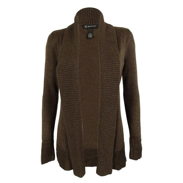 INC Women's Shawl Collar Ribbed Trim Cardigan Sweater - Free ...
