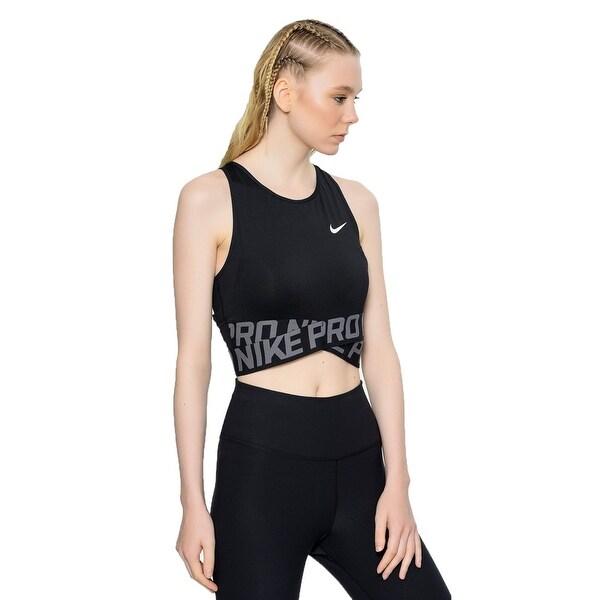 9e2a7731191fd Shop Nike Women Pro Dri-Fit Cropped Racerback Mesh Tank Top Sports ...