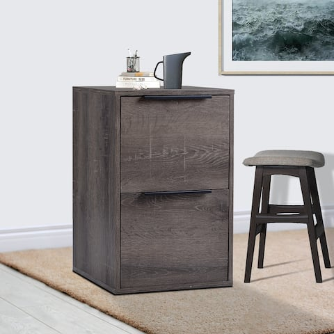 MDF Vertical Filing Cabinet with 2 Drawers