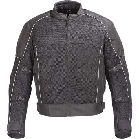 Men Motorcycle Textile Mesh Race Jacket CE Protection Black MBJ053