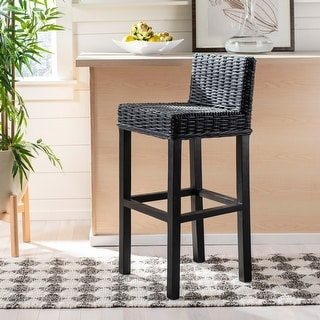 "Safavieh 29.5-inch Cypress Black Bar Stool - 17.7"" x 17.7"" x 37.4"""