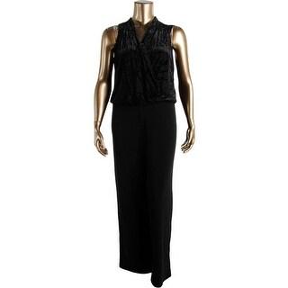 Karen Kane Womens Burnout Sleeveless Jumpsuit - XL