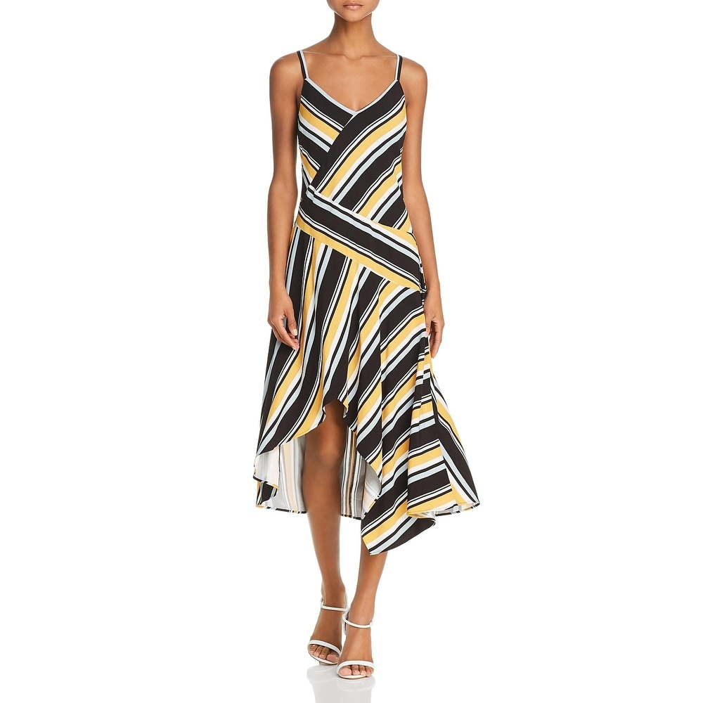 Parker Womens Selma Maxi Dress Striped V-Neck - Raya