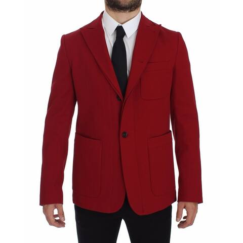 Dolce & Gabbana Red Cotton Stretch Men's Blazer