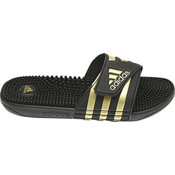018d226e50cb Shop adidas adissage Black Gold Black - On Sale - Free Shipping On Orders  Over  45 - Overstock - 20725648