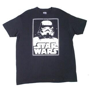 STAR WARS NEW Black Mens Size 2XL Short Sleeve Graphic Tee T-Shirt
