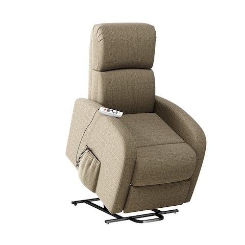 Strick & Bolton Modern Power Recline and Lift Chair with Heat and Massage