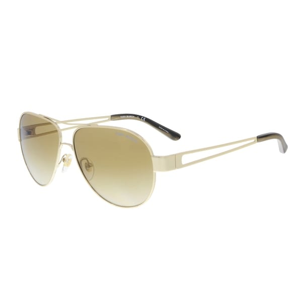 b92db1c24e Tory Burch TY6060 30576E Light Gold Aviator Sunglasses - 55-12-140. Click to  Zoom