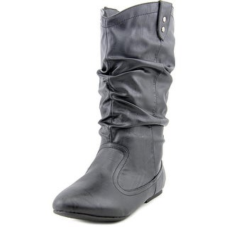 Bamboo TikTok-48 Round Toe Synthetic Mid Calf Boot