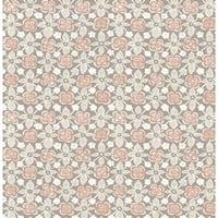 Brewster 1014-001824 Free Spirit Grey Floral Wallpaper - Free Spirit Grey - N/A