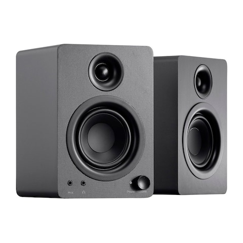Monoprice DT-3 50W Multimedia Desktop Powered Speakers Perfect For Home/Office