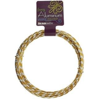 Aluminum Wire Diamond Cut 12 Gauge 12 Meter/Pkg (39.25')-Gold