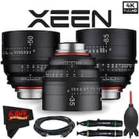 Rokinon Xeen 35mm T1.5 Lens for PL Mount + Rokinon Xeen 50mm T1.5 Lens for PL Mount + Xeen 85mm T1.5 Lens for PL Mount Bundle