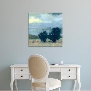 Easy Art Prints Vision Studio's 'Moonlit Field I' Premium Canvas Art