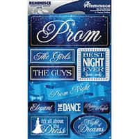 "Prom - Signature Dimensional Stickers 4.5""X6"" Sheet"