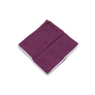 Brunello Cucinelli Men's Solid Burgundy Wool Pocket Square
