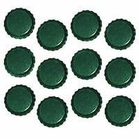 New Green Crown Bottle Caps Craft Scrapbook Jewelry (50)