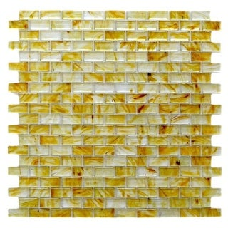 "Miseno MT-SIENNA5/8RECT Sienna - 5/8"" X 1-1/4"" - Glass Visual - Wall Tile (Sold by Sheet) - N/A"